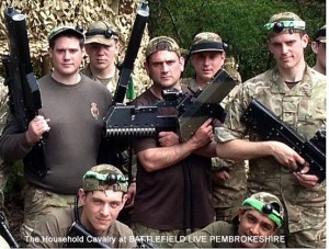 The Household Cavalry Mounted Regiment at Battlefield Live Pembrokeshire Laser Combat